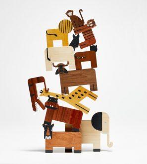 Drewniane zabawki - 12 Zwierzaków