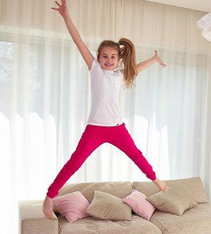 Spodnie dresowe różowe dla Dziewczynki