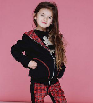 """Bluza dziewczęca z kapturem myszki """"Scottish Mouse"""""""