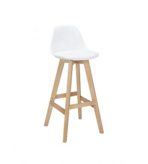 Hoker z drewna bukowego ALMERIA-kolor biały