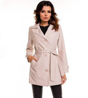 Klasyczny bawełniany płaszcz damski