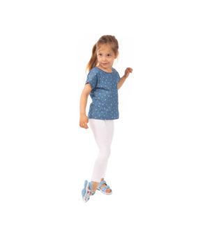 Bardzo wygodne białe legginsy dla dziewczynki, elastyczne 86, 104, 134, 152