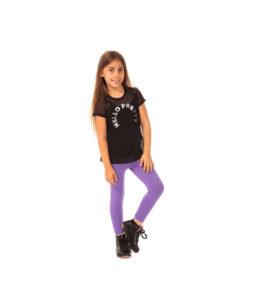 Dziewczęce miękkie w dotyku elastyczne legginsy fioletowe, 98, 134, 146