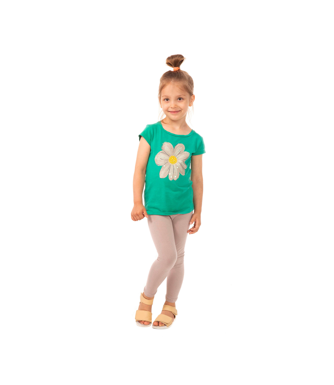 Beżowe legginsy dziecięce, elastyczne 86, 122, 128, 134