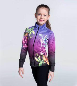 Bluza rozpinana dla dziewczyny FLOWER POWER