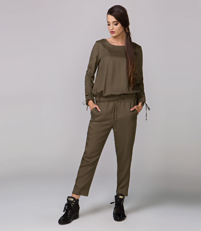 Bluzka damska Paola ciemna zielona (oliwkowa)