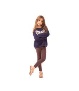 Brązowe legginsy dla dziewczynki, elastyczne 86, 104, 146, 152