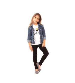 Czarne legginsy dziecięce, elastyczne dziewczęce 86, 110, 146