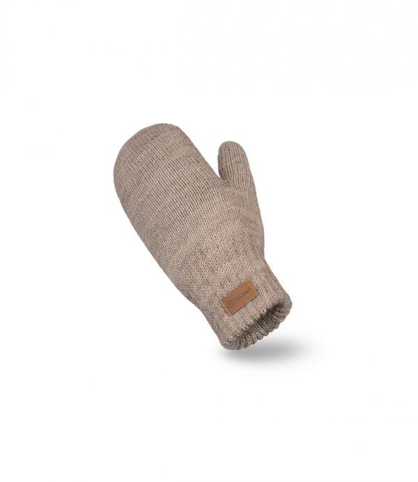 Damskie rękawiczki zimowe z jednym palcem kolor kawowy