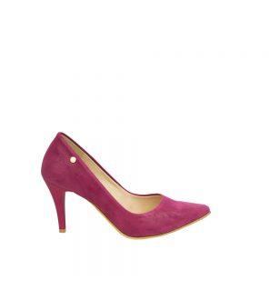 Eleganckie damskie czółenka na szpilce fuksja (różowe)