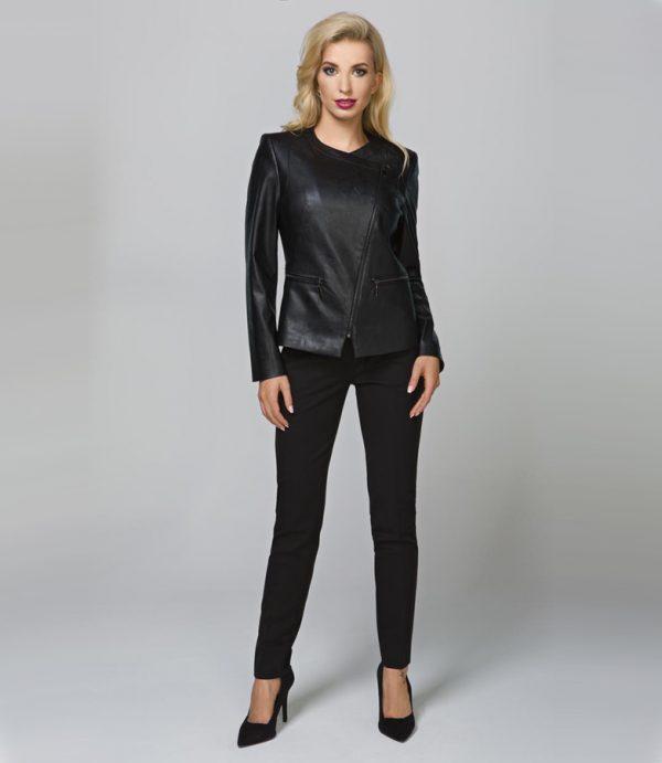 Eleganckie spodnie damskie do biura czy na miasto, Czarne