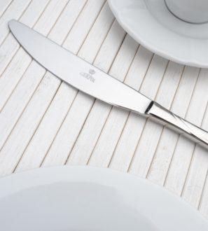GERPOL AMBER Nóż obiadowy, wykonany z wysokiej jakości stali nierdzewnej.