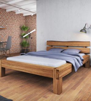 Komfortowe Łóżko Dębowe Alto w Kunsztownej Formie 140x200