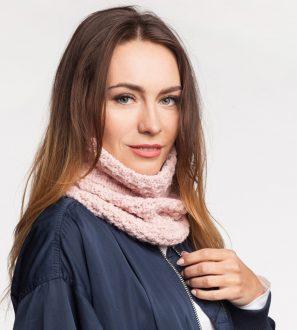 Pudrowy Róż - Zimowy Komin - Damski