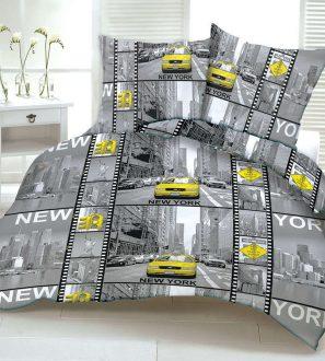 Komplet Pościeli z kory Nowy York 100% z bawełna 160x200