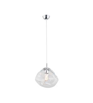 Lampa wisząca Ręcznie formowane Gniecione przezroczyste szkło