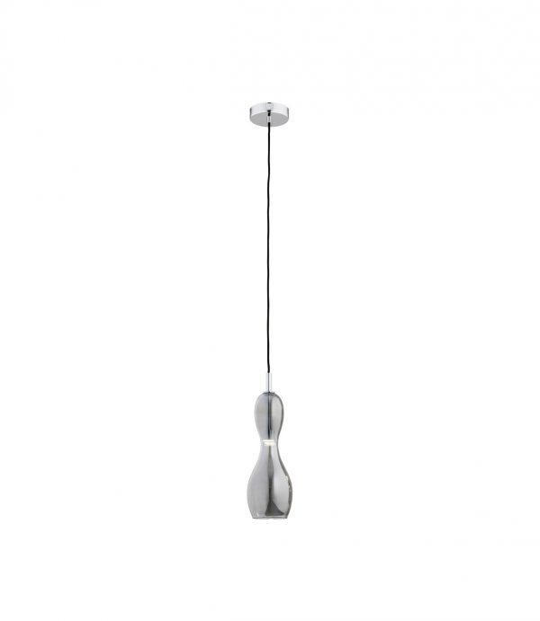 Lampa wisząca szklana lister grafit do pokoju dziennego lub kuchni