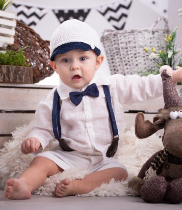 Letni komplet dla Chłopca, Spodnie w komplecie z szelkami