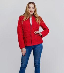 Czerwona kurtka w stylu sportowym