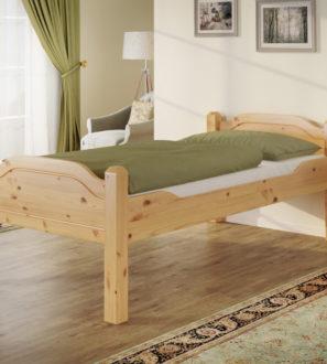 Łóżko Sosnowe Liva Senior z Podwyższoną Konstrukcją 90x200