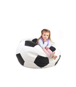 Mała pufa w kształcie piłki Footballowej