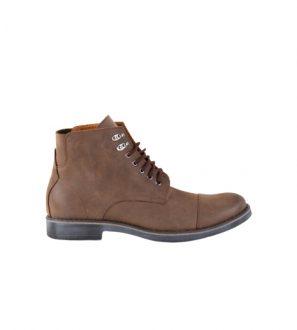 Męskie buty Zimowe z naturalnej brązowej skóry, wytrzymałe