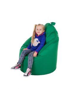 Miękki i przytulny fotel relaksacyjny (zielony)