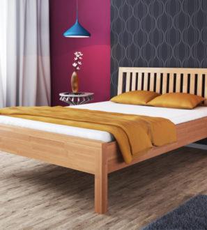 Minimalistyczne Łóżko Bukowe Ola 100x200 - Darmowy Stelaż