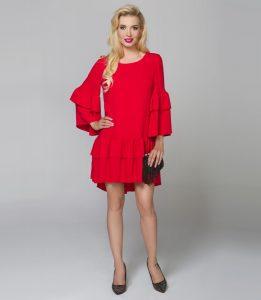Modna czerwona sukienka Luciana