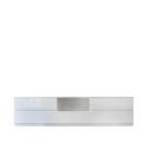Nowoczesna komoda RTV w kolorze białym 5 szuflad, 250cm