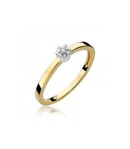 Pierścionek złoty z diamentami BD-W100