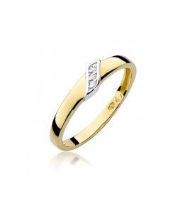 Pierścionek złoty z diamentami BD-W176