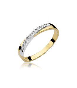Pierścionek złoty z diamentami BD-W305
