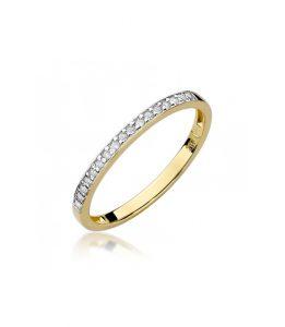 Pierścionek złoty z diamentami BD-W306