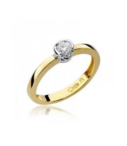 Pierścionek złoty z diamentem BD-W131