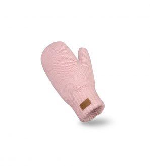 Różowe damskie rękawiczki zimowe z jednym palcem