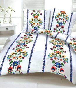 Pościel 100% Bawełna kwiaty komplet DELUXE FOLKLOR 180x200
