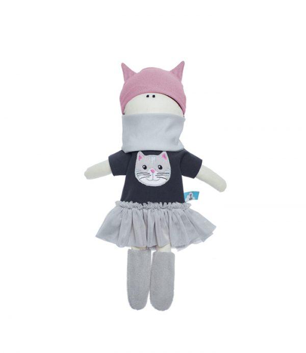 Lalka księżniczka Przytulanka w stylowej tiulowej sukience 40cm