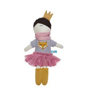 Przytulanka lalka księżniczka w stylowej tiulowej sukience 40cm