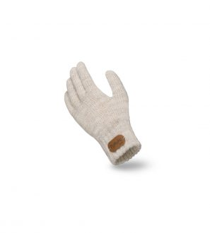 Beżowe Rękawiczki Dziecięce