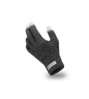 Rękawiczki Dotykowe z Ciemnoszarej Muliny