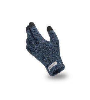 Rękawiczki Dotykowe z Granatowej Muliny