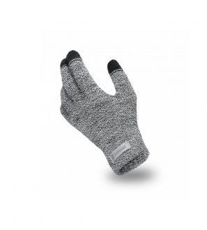 Rękawiczki Dotykowe z Jasnoszarej Muliny