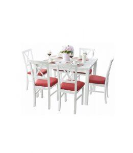 Stół rozkładany + 6 krzeseł Majorka