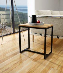 Stolik na gazetę drewniany blat, lekki wykonany ręcznie 50x30cm
