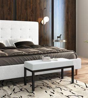 Stylowa ławka luksusowa, niezwykle przyjemny w dotyku welwet