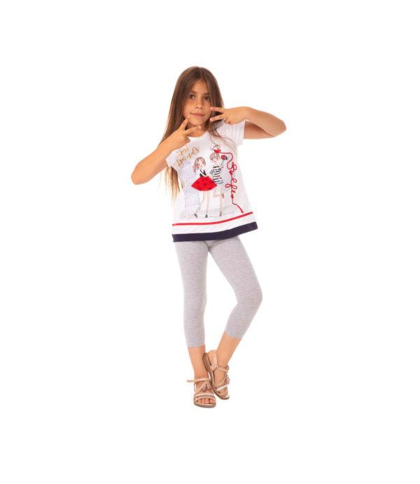 Szare legginsy, rybaczki dla dziewczynki 92, 104, 110, 134, 146