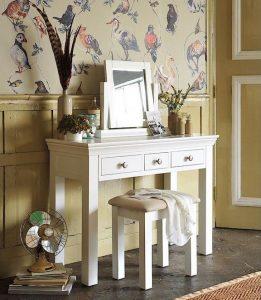 Toaletka kosmetyczna (biała) szuflady - Szerokość: 107cm Bonita