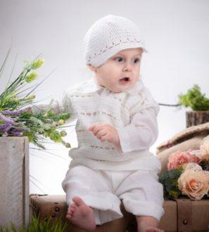 Ubranko białe do chrztu dla chłopca, komfort noszenia 100% Bawełna