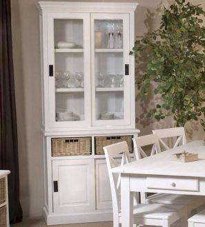 Witryna do jadalni drewniana (biała) Szerokość: 90cm Solena
